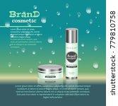 3d realistic cosmetic bottle... | Shutterstock .eps vector #779810758