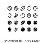 sports ball icon set | Shutterstock .eps vector #779813284
