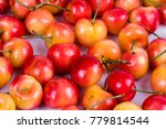 cheery fruits on white... | Shutterstock . vector #779814544