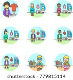 shopping  multicolor icon set | Shutterstock .eps vector #779815114