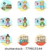 shopping  multicolor icon set | Shutterstock .eps vector #779815144