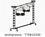 clothing rail with bras on... | Shutterstock .eps vector #779815330