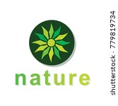natural logo design  vector... | Shutterstock .eps vector #779819734