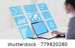 key performance indicators  kpi ... | Shutterstock . vector #779820280