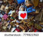 The Red Heart Shape Padlock...