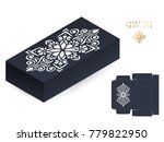 vector wedding card laser cut... | Shutterstock .eps vector #779822950