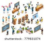 college university students... | Shutterstock . vector #779831074