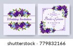 wedding invitation with flowers ... | Shutterstock .eps vector #779832166
