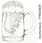 mug of beer with foam | Shutterstock . vector #779834839