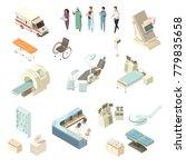 isometric hospital icons set...   Shutterstock . vector #779835658