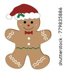 christmas gingerbread man | Shutterstock .eps vector #779835886