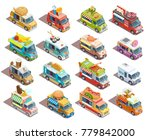 street food trucks models... | Shutterstock . vector #779842000