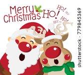 Happy Santa Claus Singing With...