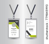 creative simple id card design... | Shutterstock .eps vector #779845993
