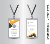 creative simple id card design... | Shutterstock .eps vector #779845996
