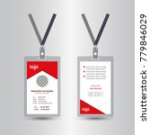 creative simple red id card... | Shutterstock .eps vector #779846029