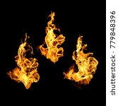fire flames collection isolated ...   Shutterstock . vector #779848396