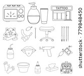 tattoo  drawing on the body... | Shutterstock .eps vector #779848450
