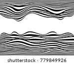 warped lines.distorted lines... | Shutterstock . vector #779849926