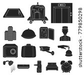 hotel and equipment black icons ... | Shutterstock .eps vector #779850298