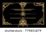 decor for documents. golden on... | Shutterstock .eps vector #779851879