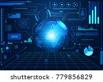 abstract technology ui... | Shutterstock .eps vector #779856829