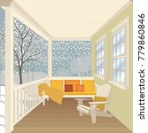 house porch with furniture  ... | Shutterstock .eps vector #779860846