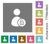 unlock user account flat icons... | Shutterstock .eps vector #779864860