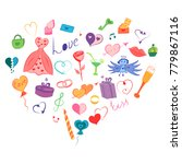 colorful hand drawn set of... | Shutterstock .eps vector #779867116