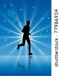 athlete reflects on abstract... | Shutterstock . vector #77986924