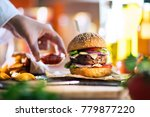 close up on the preparation of... | Shutterstock . vector #779877220