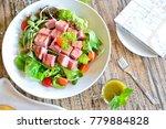 thai dessert salad and orange...   Shutterstock . vector #779884828