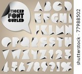 alphabet set of symbols in the... | Shutterstock .eps vector #77988502