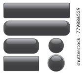 set black glossy web buttons ... | Shutterstock .eps vector #779886529