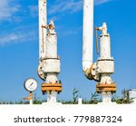 steel spring safety valve and... | Shutterstock . vector #779887324