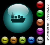 Sea Transport Icons In Color...