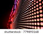 abstract led panel art  | Shutterstock . vector #779893168
