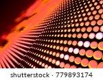 abstract led panel art  | Shutterstock . vector #779893174