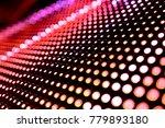 abstract led panel art  | Shutterstock . vector #779893180