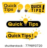 quick tips logo  icon or symbol ... | Shutterstock .eps vector #779893720