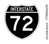 interstate highway 72 road sign ... | Shutterstock .eps vector #779896690