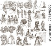 an hand drawn collection.... | Shutterstock . vector #779898070