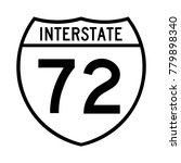 interstate highway 72 road sign ... | Shutterstock .eps vector #779898340
