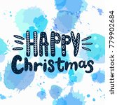 happy christmas vector text... | Shutterstock .eps vector #779902684