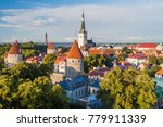 skyline of the old town in... | Shutterstock . vector #779911339