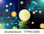 bitcoin. cryptocurrency ... | Shutterstock . vector #779911504
