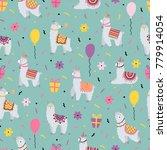 celebratory seamless pattern...   Shutterstock .eps vector #779914054