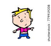 funny doodle child. boy. cartoon | Shutterstock .eps vector #779919208