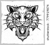 tiger black and white vector | Shutterstock .eps vector #779919874