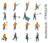 miner people wearing uniform... | Shutterstock . vector #779922178